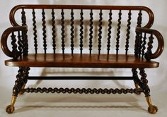 Unusual Barley Twist Bench, From The Early 1900u0027s   Leonards Antiques