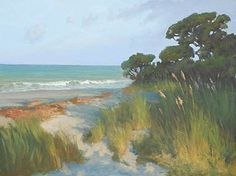 Pines and Sea Oats 24 x 30 oil on linen. Sold.  Prints available from my InPrnt Shop or Fine Art America