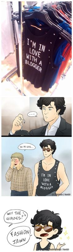 "Cause fashion John. I don't ""ship Johnlock"" But this, this made me laugh. it's midnight. I really need to go finish my book and sleep."