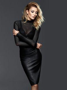 Leather Skirt Ozge Ulusoy by Koray Parlak for Bestyle Magazine