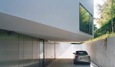 Sloping path giving acces to the basement. Villa Bussum by Group A