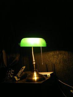 Green lamp.