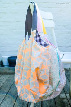 "because Heinrich shopping bags can never be enough! - DIY ""Heinrich"" shopping bag – super practical shopping bag – sewing instructions and pattern - Bag Sewing, Free Sewing, Sewing Projects For Beginners, Knitting For Beginners, Beginner Crochet, Sewing Hacks, Sewing Tutorials, Bag Crochet, Free Crochet"