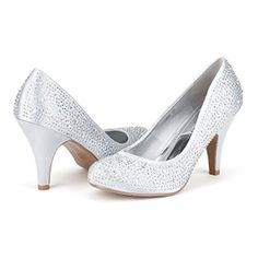 cool Desire PAIRS S-ARPEL Women's Official Evening Dance Rhinestones Basic Small Heel Pumps Shoes New
