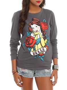 Disney Beauty And The Beast Belle Tattoo Girls Pullover Top | Hot Topic