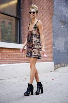 Chunky Heeled Shoes 2017 Street Style