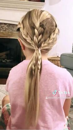 Easy Little Girl Hairstyles, Baby Girl Hairstyles, Kids Braided Hairstyles, Little Girl Braids, Pretty Hairstyles, Girl Hair Dos, Short Hair Styles Easy, Toddler Hair, Hair Videos