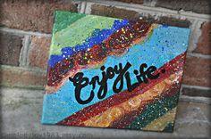 Enjoy Life  8x10 original canvas painting by melodyjoy1983 on Etsy, $16.00
