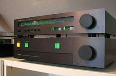 Yamaha A-1 . Integrated Stereo Amplifier (1978-80) . Power output: 80 watts per channel into 8Ω (stereo) . Yamaha T-1 . Natural Sound Stereo Tuner (1978-80) Vintage Audio Love