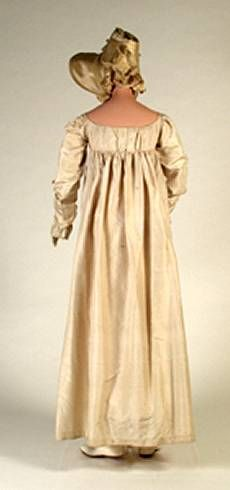 Ivory silk taffeta gown worn by Anne  Catherine Spurck of Chillicothe, Ohio  at her wedding on July 4, 1817. 17