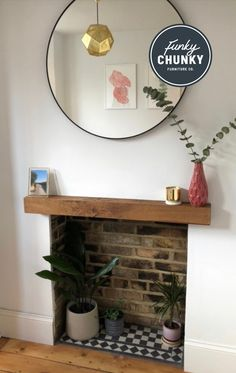 Choice of brass, copper, raw steel or green metal legs. Choice of sizes. Choice of wax finishes. Fireplace Tile Surround, Fireplace Hearth, Home Fireplace, Fireplace Design, Fireplace Shelves, Victorian Fireplace, Log Burner Living Room, Living Room Decor Fireplace, Home Room Design