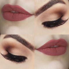 Make Classic Opaque + Lipstick Gaia_Pause For Feminices - Makeup Looks Classic Makeup Goals, Makeup Inspo, Makeup Inspiration, Makeup Tips, Makeup Ideas, Prom Makeup, Wedding Hair And Makeup, Bridal Makeup, Wedding Nails