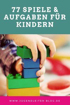 Spiele und Aufgaben für Kinder und Jugendliche. Ideen für die Spielstraße. Für Ferienlager und Zeltlager. Jugendarbeit, Kindergarten, Kita.