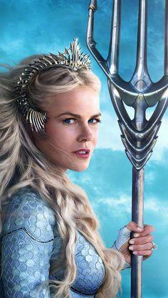 Girl Wallpaper- Nicole Kidman As Queen Atlanna In Aquaman 2018 Ultra HD Mobile Wallpaper Aquaman Film, Aquaman 2018, Marvel Vs, Marvel Dc Comics, Captain Marvel, Nicole Kidman, Supergirl, Superman, Batman