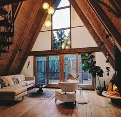 8 Effortless Clever Ideas: Attic Room Before And After half attic remodel. A Frame Cabin, A Frame House, Attic Renovation, Attic Remodel, Stair Makeover, Cabin Interiors, Cabin Homes, Cabins In The Woods, House Goals