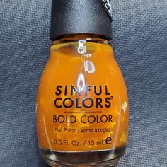 Bold Colors, Nail Colors, Sinful Colors, Toffee, Cleaning Supplies, Swatch, Nail Polish, Soap, Bottle