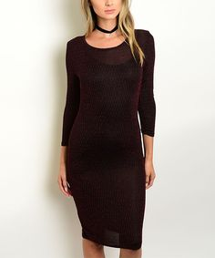 Another great find on #zulily! Black & Red Long-Sleeve Bodycon Dress by Shop the Trends #zulilyfinds
