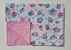 Owl Blanket   Pink Owl Blanket   Girl Blanket   Baby Blanket on Etsy $32.00