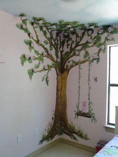 tree muriels for nursery | mural girls mural tree mural garden mural children mural kids mural ...