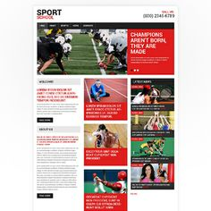 Sport Responsive Website Template - READY TO GO. Dsigned by Mercury. He's good.