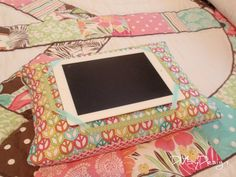 iPad pillow . .  . definitely using another fabric print!