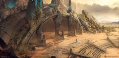 Desert Temple Entrance by Jose Borges Fantasy Castle, Medieval Fantasy, Sci Fi Fantasy, Fantasy World, Environment Concept Art, Environment Design, Desert Temple, Alien Worlds, Fantasy Places