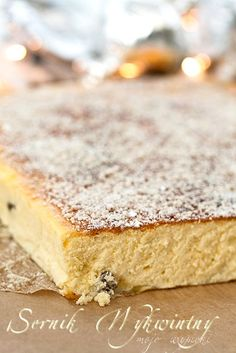 Nice Place to Get started Polish Desserts, Polish Recipes, Polish Food, Great Desserts, Delicious Desserts, Dessert Recipes, European Dishes, Heritage Recipe, Christmas Cheesecake