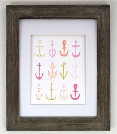 Anchor Parade 8x10 Print Pink