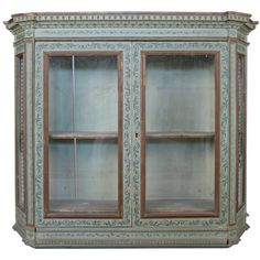 Exceptionnel Italian 19th Century Hand Painted Wall Cabinet