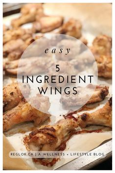 Easy 5 Ingredient Chicken Wings – Reg Lok Von, Nourish Through Movement High Protein Recipes, Protein Foods, Easy 5, Quick Easy Meals, Whole Food Recipes, Great Recipes, Easy Recipes, Healthy Chicken, Chicken Recipes
