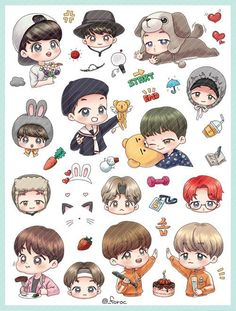 Read chibi 1 from the story ảnh BTS by (Cao Ngữ Lam) with reads. Bts Chibi, Anime Chibi, Cartoon Fan, Kpop Drawings, Dibujos Cute, Bts Fans, Kpop Fanart, Rap Monster, Leprechaun