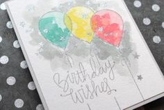 Distress Ink Watercolor Birthday Card + GIVEAWAY!