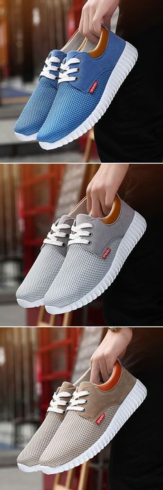Men Mesh Fabric Breathable Shock Absorption Sneakers Sport Running Shoes is fashionable and cheap, buy best sneakers for plantar fasciitis for family-NewChic. Best Sneakers, Casual Sneakers, Casual Shoes, Men Casual, Adidas Sneakers, Me Too Shoes, Men's Shoes, Shoe Boots, Dress Shoes