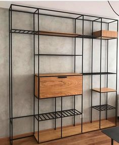Things That You Need To Know When It Comes To Industrial Decorating You can use home interior design in your home. Iron Furniture, Steel Furniture, Home Decor Furniture, Industrial Furniture, Diy Home Decor, Furniture Design, Regal Industrial, Industrial Style, Home Room Design