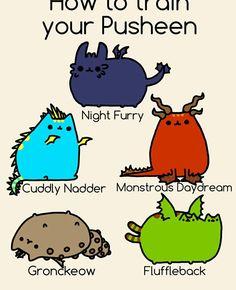 How to Train Your Pusheen, cute, funny, text, dragons; Pusheen