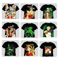 Anime One Piece Clothing Luffy Zoro Shanks Black T-shirt Free shipping. NEED. NEED. SO MUCH NEED.