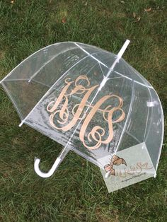 2 Personalized Adult Clear Umbrella by LilLuLusShop on Etsy https://www.etsy.com/listing/256341314/2-personalized-adult-clear-umbrella