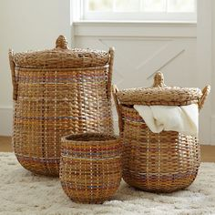 Pottery Barn Teen Woven Multi-Colored Baskets