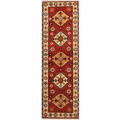 Herat Oriental Indo Hand-knotted Tribal Kazak Wool Runner x Hallway Runner, Wool Runners, Home Decor Outlet, Living Spaces, Oriental, Rugs, Pattern, Art, Hall Runner