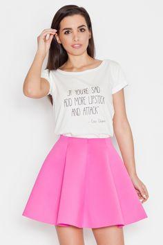 Mini skirt with a flared fashion in shades of fuchsia 79906a026f0