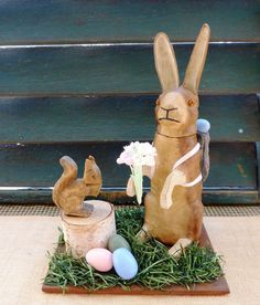 Antique German Rabbit Bunny Candy Container Easter Primitive