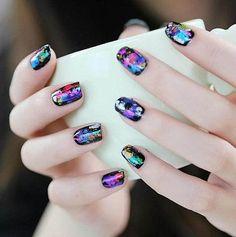femmes univers de star nail art stickers starry papier autocollant nuit étoilée nail transfert pour