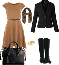 """Camel And Black"" by juli67 on Polyvore"
