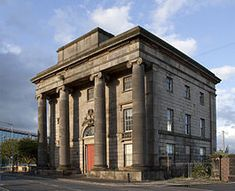 """The surviving entrance building of Curzon Street Station, which is a Grade 1 listed buiding.  It opened in 1838 and was closed in 1966."""