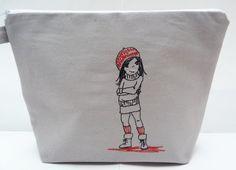 Kulturbeutel - KULTURtasche für coole KIDs - ein Designerstück von Bestickend bei DaWanda
