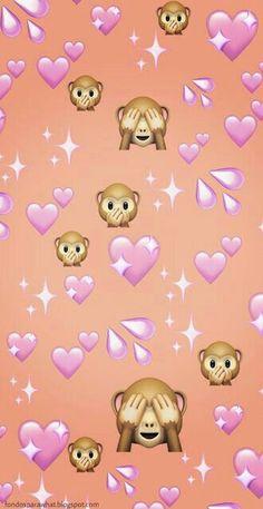 emoji wallpaper Wallpaper para Whatsapp con emoji de Monito y corazones fondos wallpaper emoji 636203884841781661 Wallpaper Sky, Emoji Wallpaper Iphone, Cute Emoji Wallpaper, Cartoon Wallpaper Iphone, Cute Disney Wallpaper, Iphone Background Wallpaper, Cute Cartoon Wallpapers, Aesthetic Iphone Wallpaper, Phone Wallpapers