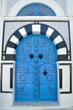 beautiful door in Tunisia