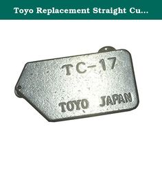 Toyo Replacement Straight Cutting Head for Oil Type Glass Cutter. Fits Toyo and CRL Oil Type Glass Cutters and B0T10 Break-Out Tool Quality Import Cutting Head Engineered for Long Service Life Toyo Replacement Straight Cutting Head has a quality wheel honed to a 134 degree angle, perfect for all of your general cutting needs. It is designed to work with the CRL STC17 and PTC17 Series Oil Type Glass Cutters. Hone Angle: 134 Degree Easy replacement is done by removing a set screw to release...