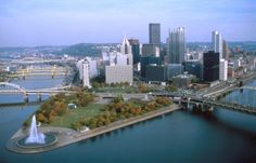 Pittsburgh's Three Rivers by VisitPittsburgh, via Flickr