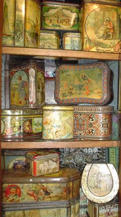 Antique and Vintage shop advertising tins